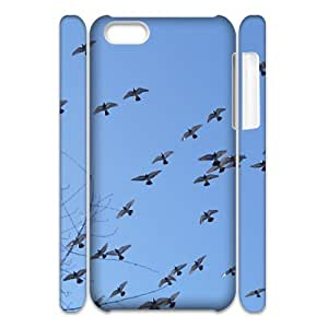 CHSY CASE DIY Design Birds of the air Pattern Phone Case For iPhone 5C