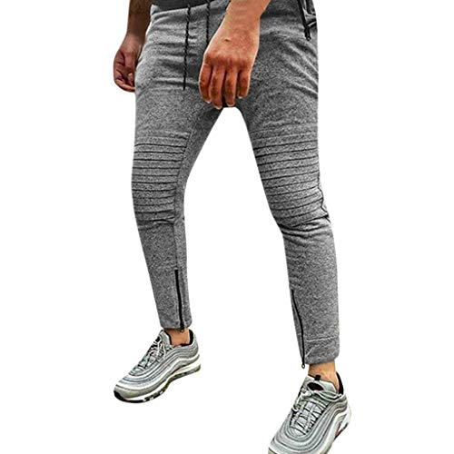 Bsjmlxg 2019 New and Hot Men's Casual Jogger Sweatpants Basic Jogger Pant Elastic Waist Drawstring Trousers Army Green