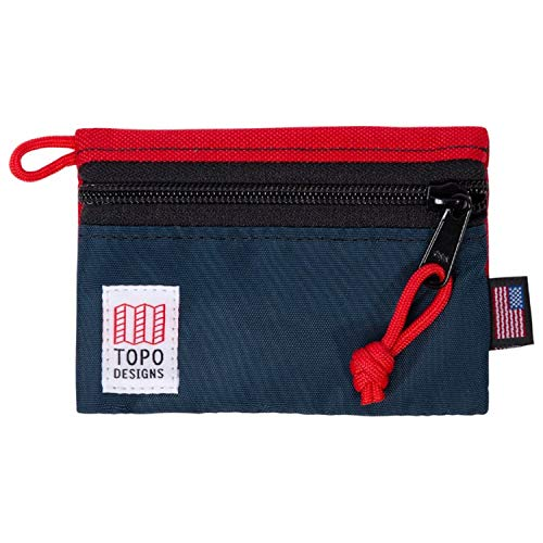 Topo Designs Accessory Bags - Red/navy - Micro