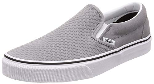 (Vans Men's Embossed Suede Slip-On Skate Shoe (8.5 M US, Frost Gray True White))