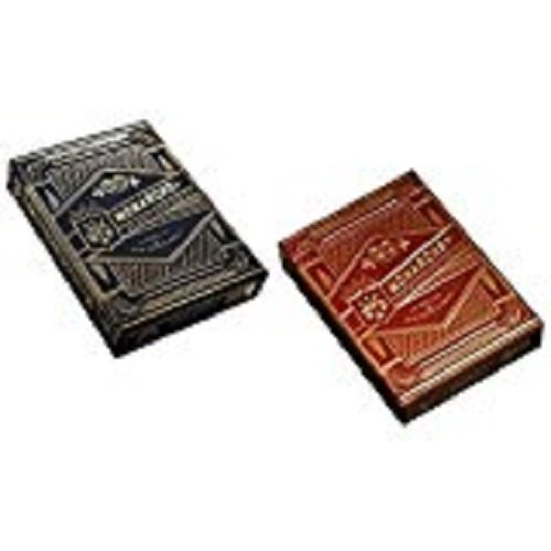 Wilddeckdotcom Monarchs 2-Deck Set (Red & Navy Blue) Playing Cards by Theory 11]()
