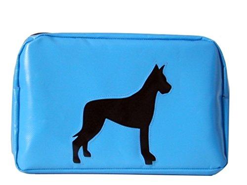 Kulturbeutel Hund Dogge Hellblau/SchwarzH 17 B 28 T 12