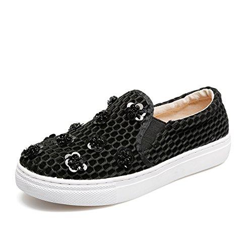 Holgazanes huecos de las mujeres/ensartar cuentas de flores/personalizada lazy/A los zapatos de pedal/zapatos casuales/zapatos planos A