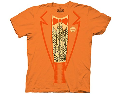 Ripple Junction Dumb and Dumber Ruffle Tux Tromp Adult T-Shirt Small Tangerine (Dumb And Dumber Orange Tux)