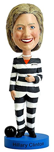 Doll Bobble Head (Hillary Clinton Striped Prison Pantsuit Bobblehead)