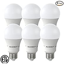 ALEXFIRST Lighting LED Bulbs, 100 Watt Replacement, 11W, 1000 Lumens, Daylight Soft White, Non-Dimmable A19 Base E26 (6-Pack, Soft White(3000K))