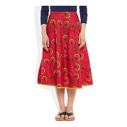 Women's Export Pleated Skirt Handicrfats Printed Me Indian Very Pink 1X5w7