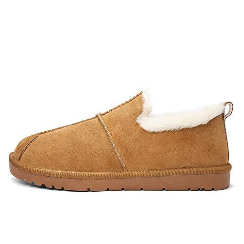 Desgaste 44 Faux De Botas color Hombre Soportar Negro Home Nieve Inside Shoes Top Marrón Style Bnd La Tamaño Durable; Eu shoes Low Winter Fleece Casual British Moda Para qX4651w