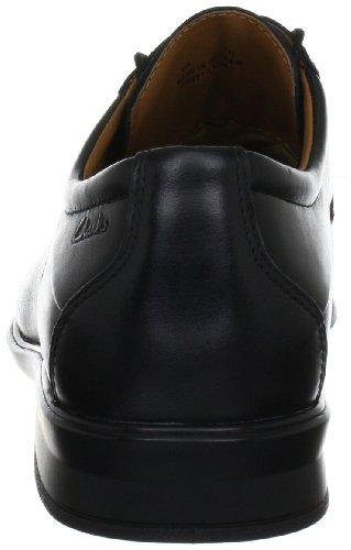 Clarks Goya Row 203391608 - Zapatos de cordones de cuero para hombre Negro