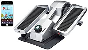 Cubii Pro Under Desk Elliptical, Bluetooth Enabled, Sync w/FitBit and HealthKit, Adjustable Resistance, Easy Assembly (chrome)