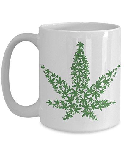 CANNABIS THEMED MUG, Weed Coffee Lover Cup, Marijuana Leaf Design, Bud Hemp 420 Lover