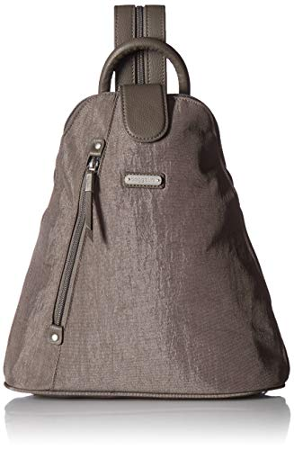 Baggallini Metro Backpack with RFID Phone Wristlet, Sterling Shimmer ()