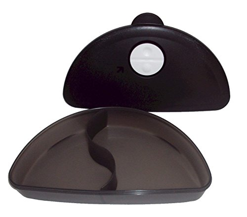 - Tupperware Black CrystalWave Microwave Divided Dish Luncheon Plate