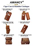 AMANCY Top Quality 3- Finger Brown Leather Cigar