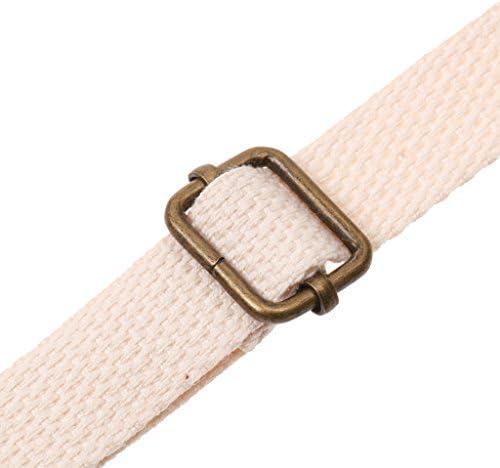 Fityle Adjustable Canvas Crossbody Bag Strap Handle Shoulder Bag Strap Replacements Bag Accessories Beige
