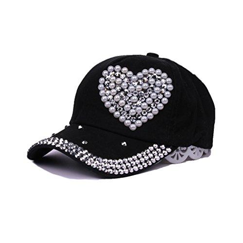 (Raylans Adjustable Women Men Bling Rhinestone Denim Baseball Cap Hat (7#))