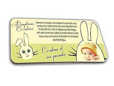 Tarjeta De Invitación En Chocolate Tema Conejo Personalizada