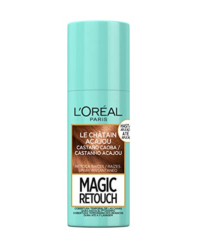 🥇 L'Oréal Paris Magic Retouch Spray Retoca Raices y Canas para Pelo Castaño Caoba – 75 ml