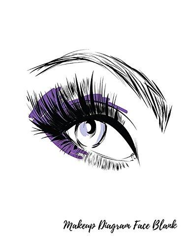 Makeup Diagram Face Blank Eye Make Up Chart Large Notebook
