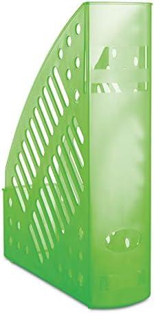 DONAU 7462188PL-06 Stehsammler, durchbrochen, Polystyrol, A4, transparent grün