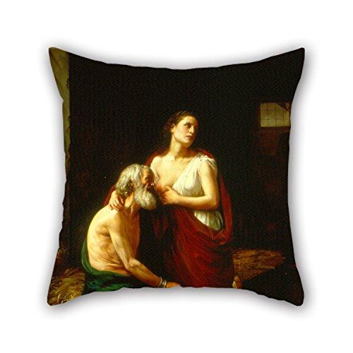 Artistdecor Pillowcase Of Oil Painting Luis Monroy - Roman Charity,for Kitchen,study Room,pub,dinning (Reed Roman Tub)