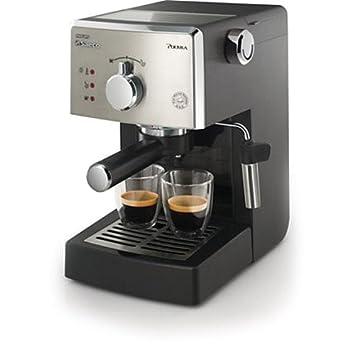 Saeco HD8325/01 - Cafetera Saeco Poemia espresso manual negra y cromada,950W,
