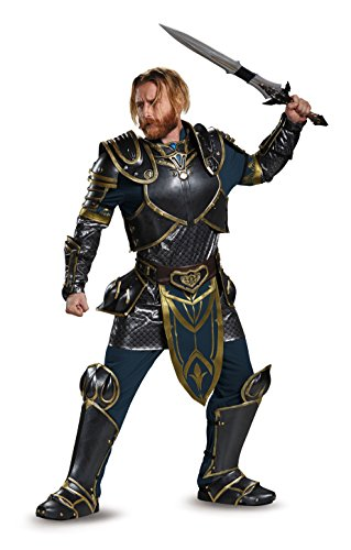 Disguise Men's Warcraft Lothar Prestige Adult Costume with Storm Wind Sword, Multi, Medium