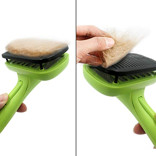 Capularsh Self-Cleaning Slicker Brush,Pet Deshedding Tool Grooming Brush for Dog,Cats