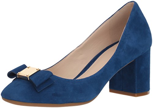 Cole Haan Women's Tali Bow Pump, Navy Peony Suede, 11 B US (Pumps Suede Sole Rubber)