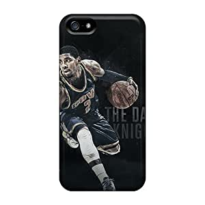 Shock Absorbent Hard Phone Cases For Iphone 5/5s With Custom Nice Kyrie Irving Pattern ChristopherWalsh