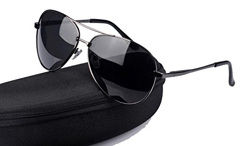 Aviator Polarized Sunglasses for Men and Women With Case UV 400 Protection - Sunglass Okley