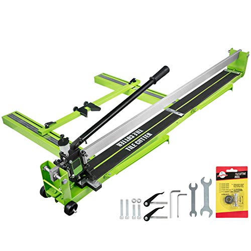 BestEquip Tile Cutter 47 Inch Manual Tile Cutter 1.4 Inch Tile Cutting Machine Ceramic Porcelain Tile Cutter w/Laser Guide All-Steel Frame and Bonus Spare Cutter Wheels Tile Cutter Hand Tool