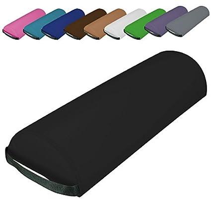 Norme CE Rose 10 coloris Vivezen /® Traversin coussin demi-rond 66 cm x 22 cm x 12 cm pour table de massage