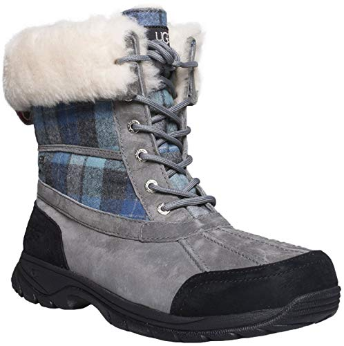 UGG Men's Butte Snow Boot (11 M US, Blue Surf Plaid)