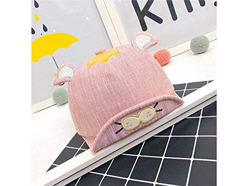 Zehaer Baby Decoration Hat Newborn Lion Embroidery Sun Visor Sun Protection Hat Baby Baseball Cap for 0-8 Months(Blue) Cute Cap (Color : Red, Size : 42-46cm)