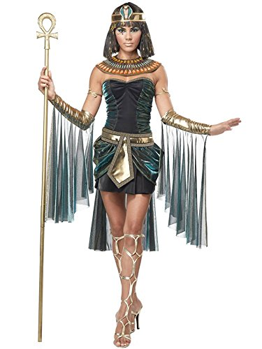 California Costumes Women's Eye Candy - Egyptian Goddess Adult, Black/Teal, Large ()