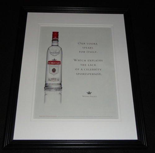 2009 Sobieski Vodka Framed 11x14 ORIGINAL ()