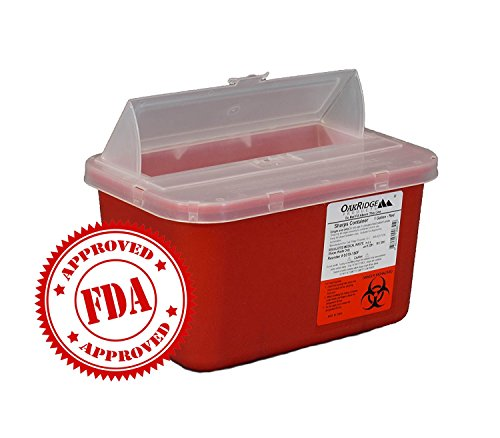 One Gallon Sharps Containers with Pop up Lid (Two Pack) by OakRidge Products (Image #4)