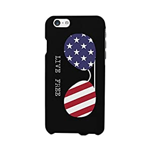 Red White and Blue American Flag Live Free Sunglasses Phone Cases for iphone 4, iphone5, iphone5C, iphone 6, iphone 6 plus, Galaxy S3, Galaxy S4, Galaxy S5, HTC One M8, LG G3