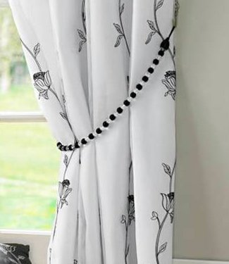 amazon x half ready damask curtain white flock black slp design and pencil plain made curtains with co uk pleat