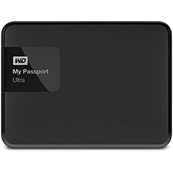 WD 2TB Black My Passport Ultra Portable External Hard Drive - USB 3.0 - WDBBKD0020BBK-NESN [Old Model]