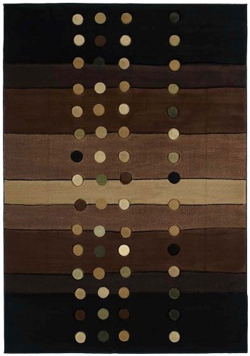 - United Weavers of America Contours Collection Cascades Heavyweight Heatset Olefin Rug, 5-Feet 3-Inch by 7-Feet 6-Inch, Chocolate