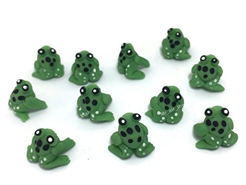 Lot of 12 Miniature Frog Fairy Garden Supplies Animal Figurine Furniture Dollhouse GD#002