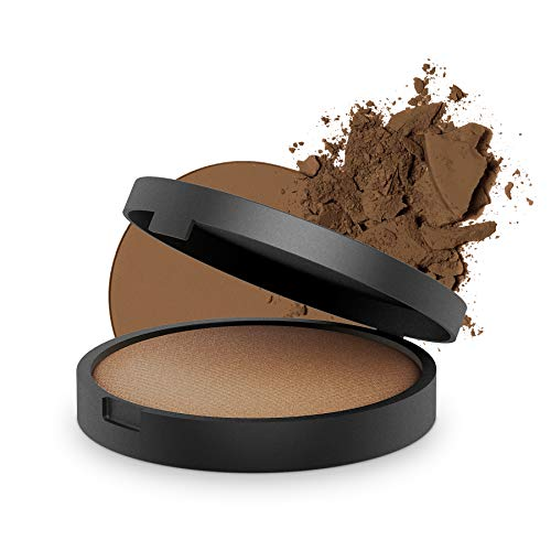 INIKA Baked Mineral Foundation Powder All Natural Make-up Base, Vegan, Hypoallergenic, Dermatologist Tested, 8g ()