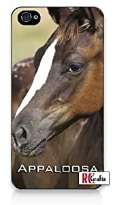 Beautiful Equestrian Appaloosa Horse Image Diy For Iphone 4/4s Case Cover Quality Hard Snap On Diy For Iphone 4/4s Case Cover Sprint Verizon - White Case