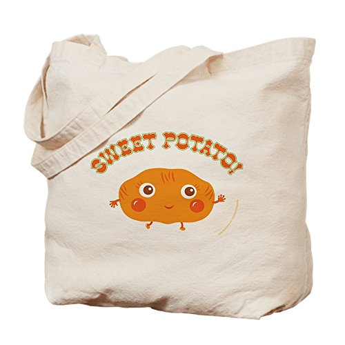 CafePress - Sweet Potato - Natural Canvas Tote Bag, Cloth Shopping Bag Infant New Potatoes