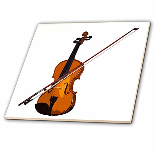 3dRose LLC Violin 4-Inch Ceramic ()