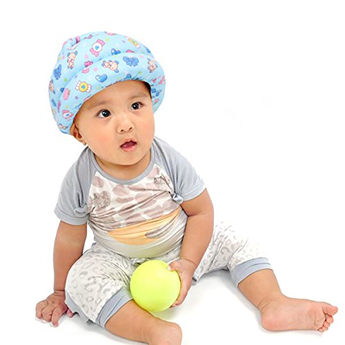 FLYPARTY Adjustable Infant Baby Toddler Protective Hat Helmet Safety Cap (Blue...