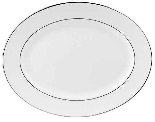 Lenox Hannah Platinum 13-Inch Bone China Oval Platter