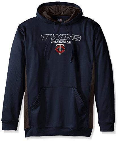 MLB Minnesota Twins Men's Fleece Hood, 3X Tall, Navy / StormGrey – DiZiSports Store